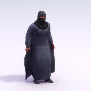 3d model arab female