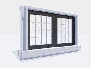 3ds casement window