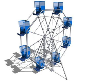 3d model wheel play playground