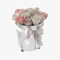 flower roses ice bucket 3D