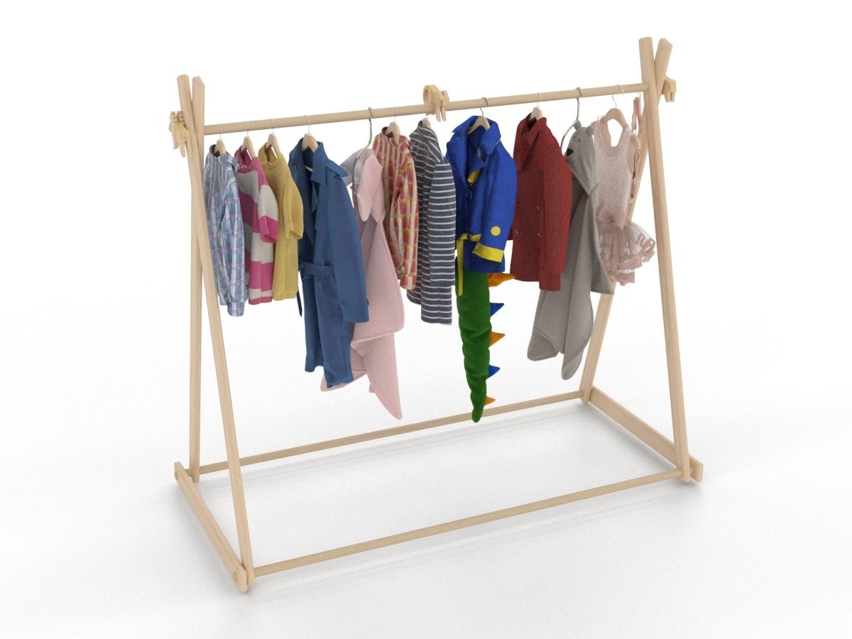 Children S Clothes Line Turbosquid