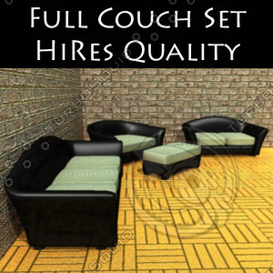 furniture armani couchset sofa 3d model