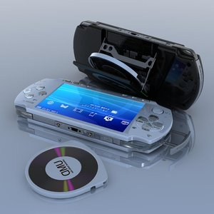 3d sony psp slim light