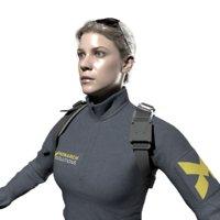 woman soldier 3D model