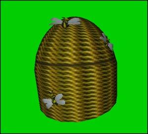 3d decorative bee hive basket