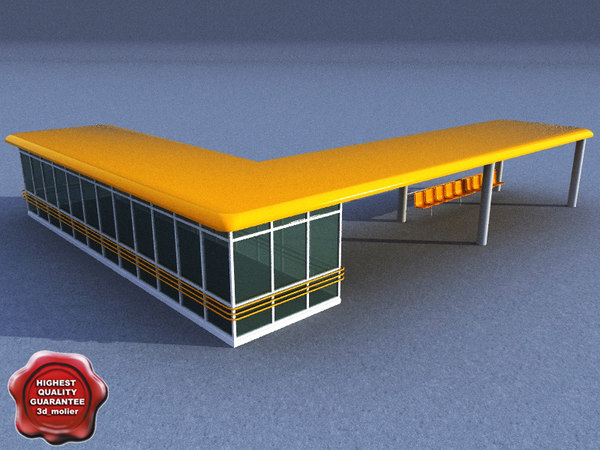 3ds max bus stop v7