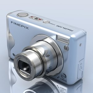 3d model of fujifilm finepix f20 photocamera