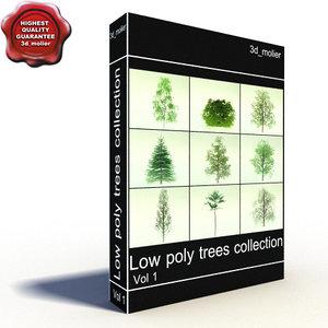 3d model summer trees
