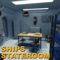 3d ships stateroom model