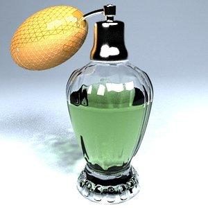 3d perfume cologne bottle model