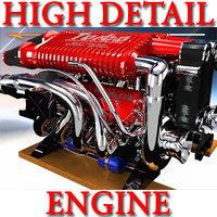 3d model engine marine boats