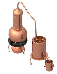 copper distiller 3d model
