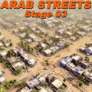 arab streets construction buildings 3ds