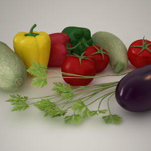 vegetables tomato parsley 3ds