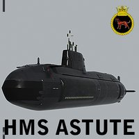3d model hms astute s119