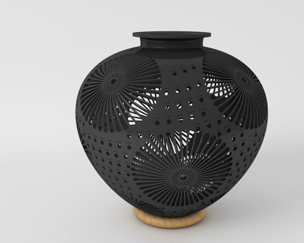 3d model traditional vase oaxaca mexico