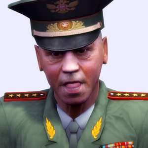 3d model of russian general officer
