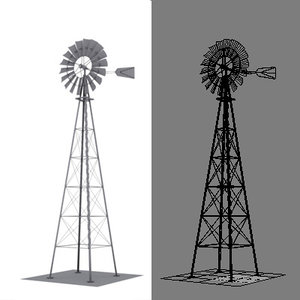 3d model simple windmill