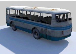 3d model old bus laz
