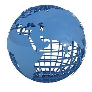 3d model globe land