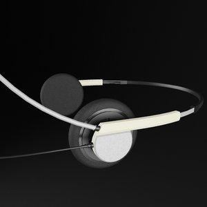 headphones hands headset 3d max