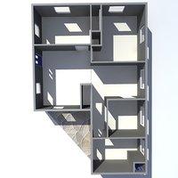 3d model house bungalow