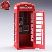 3ds max telephone box