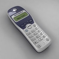 cordless telephone 3d model