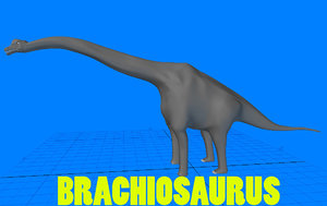 3d model of brachiosaurus