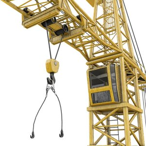 3ds max construction tower crane