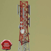3d telecommunication tower v2