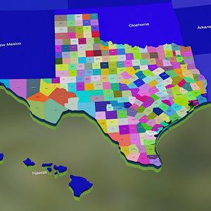 usa texas counties max