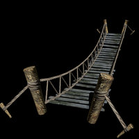 hanging bridge 3d model