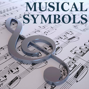 musical symbols 3d obj