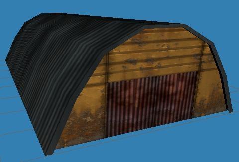 low-poly hangar 3d 3ds