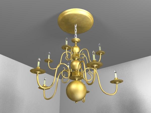 3ds max chandelier lights
