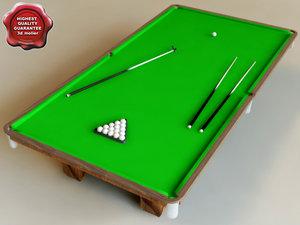 3dsmax billiard-table classic interior