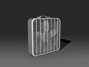 box fan 3d model