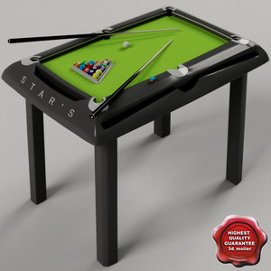 3d children billiard table model