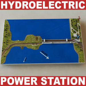 hydroelectric power station v2 3d model