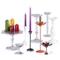 3D model candles candlesticks