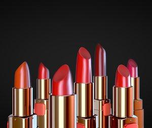 lipstick stick lip 3D model