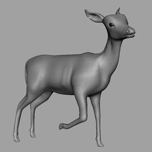 deer 3d obj