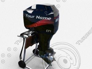3d outboard boat motor