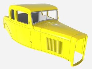 3dsmax 1932 5-window coupe body