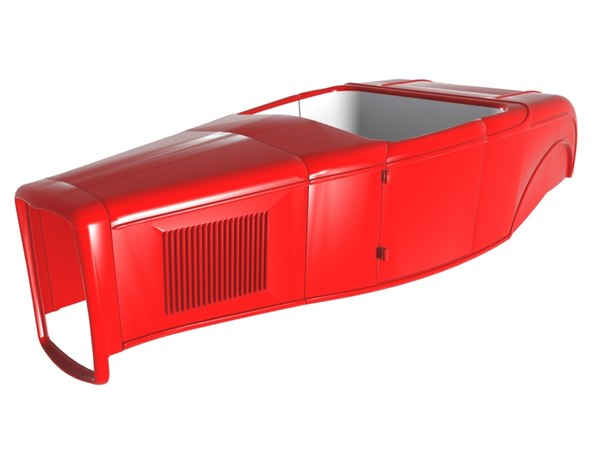 1932 roadster body shell dxf