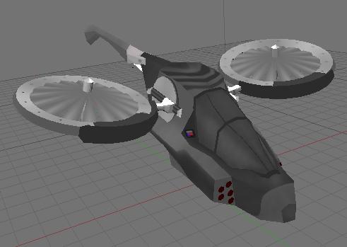 vtol helicopter 3d model