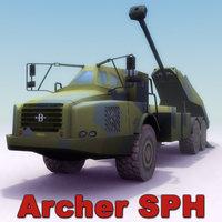 3d archer 155mm artillery guns model