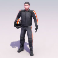 3d motorcycle rider cycle model