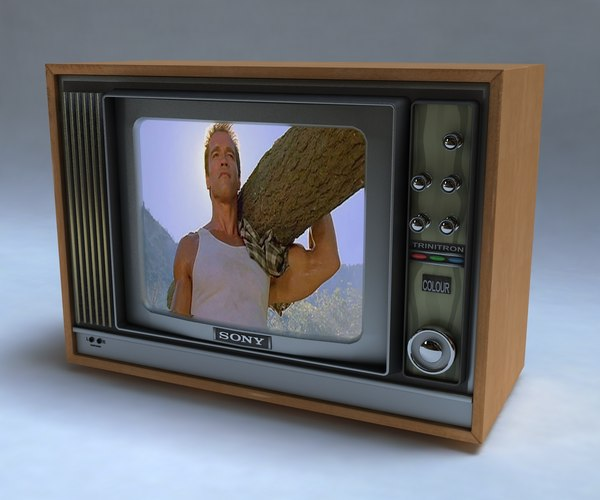 3d model of sony trinitron tv max8